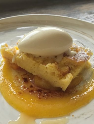 Brioche Bread Pudding- Citrus Salad, Marmalade Brulee, Orange Mascarpone Ice Cream-Web Res