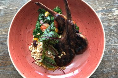 Grilled Aussie Lamb Chops- Heirloom Carrots, Kale, Pine Nut Sesame Yoghurt, Date & Honey Vinaigrette - Web Res